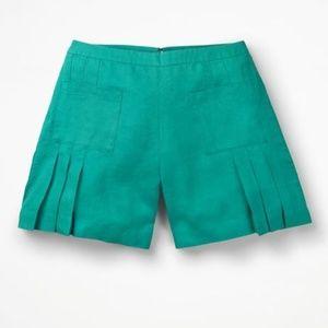 BODEN Zoe Linen Shorts, Indian ocean